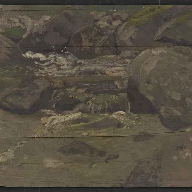 Ferdinand Katona: Vodopád v Tatrách. - Katona Ferdinand