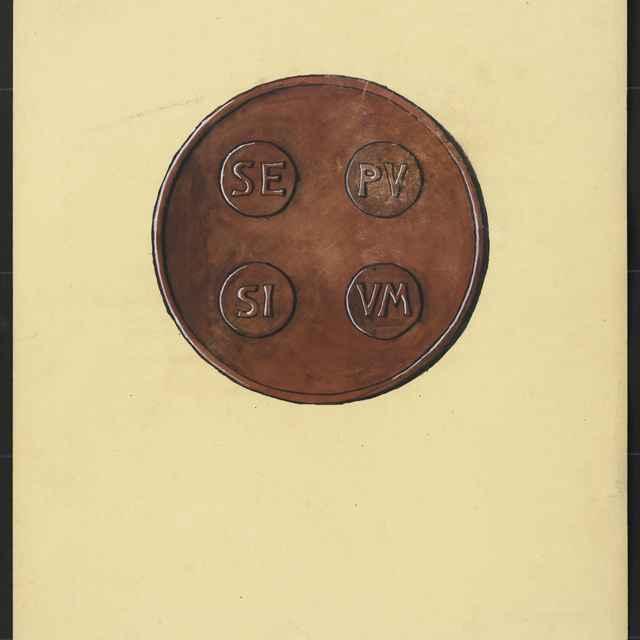 Najstaršia pečať Spišskej župy. Tempera na papieri