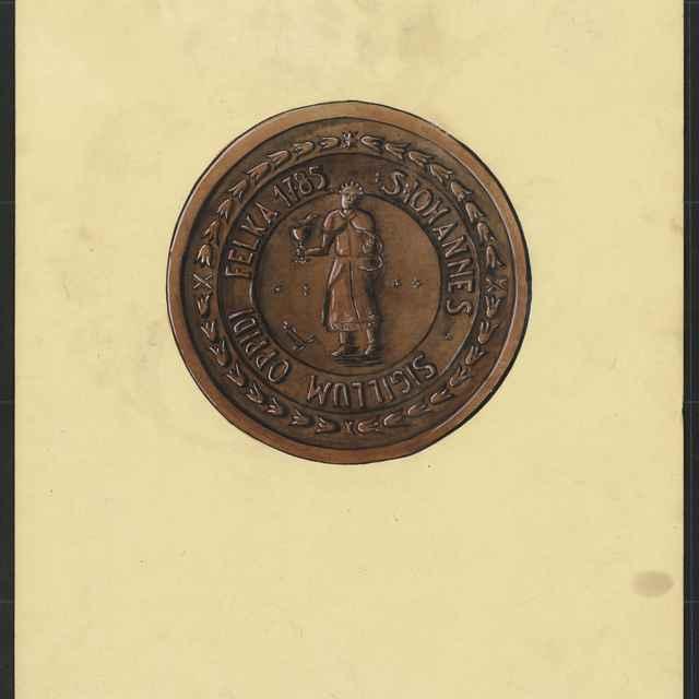 Pečať Veľkej z roku 1785. Tempera na papieri