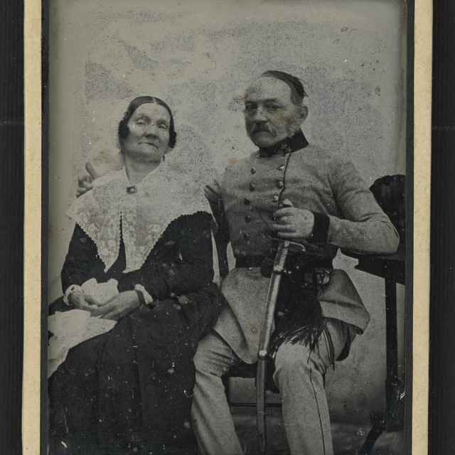 Daguerrotypia - portrét manželského páru