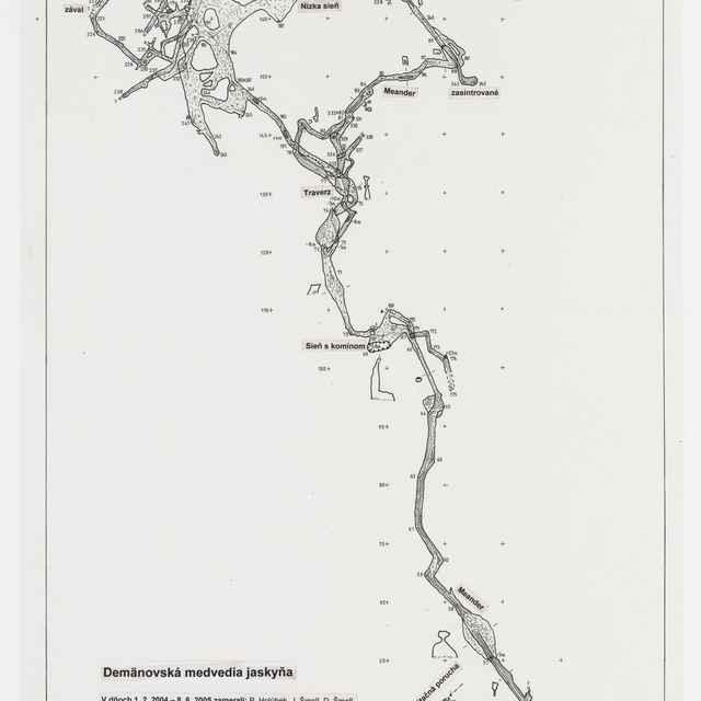 Demänovská medvedia jaskyňa (plán) - Holúbek, Peter