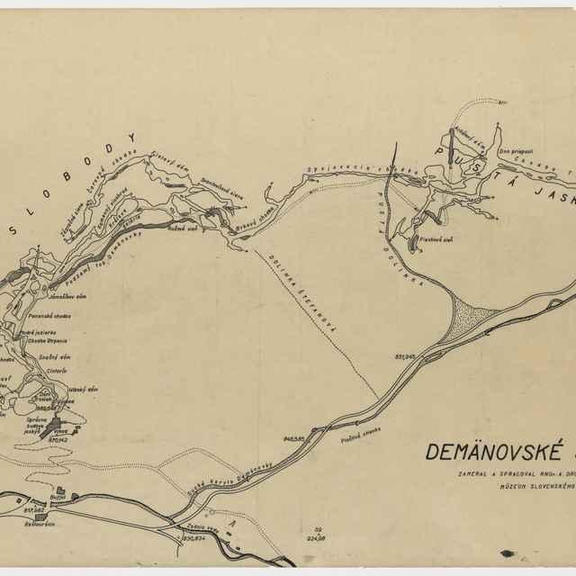 Demänovský jaskynný systém (plán) - Droppa, Anton
