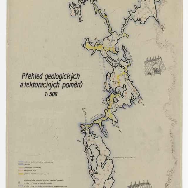 Harmanecká jaskyňa (plán) - V. Lenčo