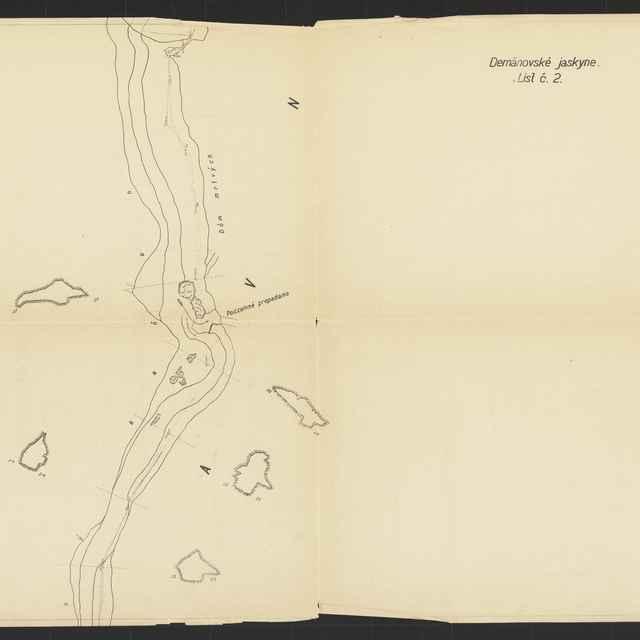 Demänovská jaskyňa slobody (plán) - V. Adámek, J. Belza
