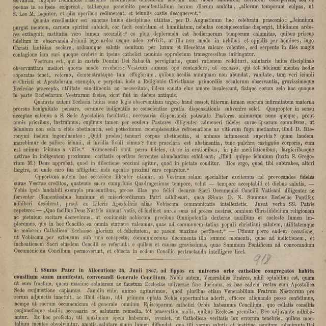 Venerabili et Honorabili Clero Dioecesis Nostrae salutem in Domino, et Paternam ac Praesuleam Nostram Benedictionem! - Roškováni, Augustín