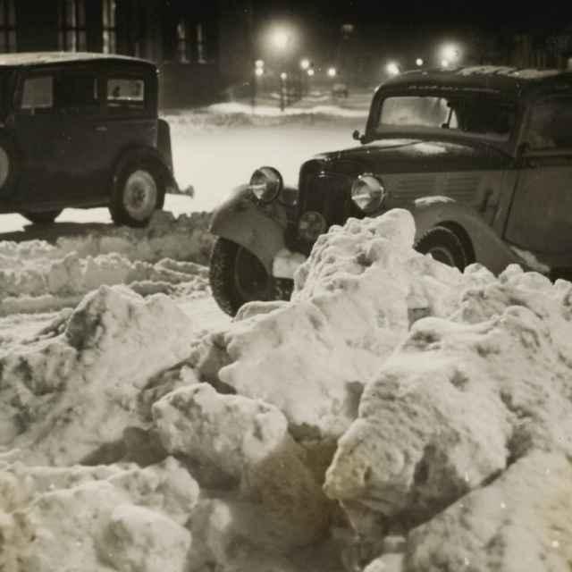 Bez názvu (Autá v snehu) - Dohnány, Miloš