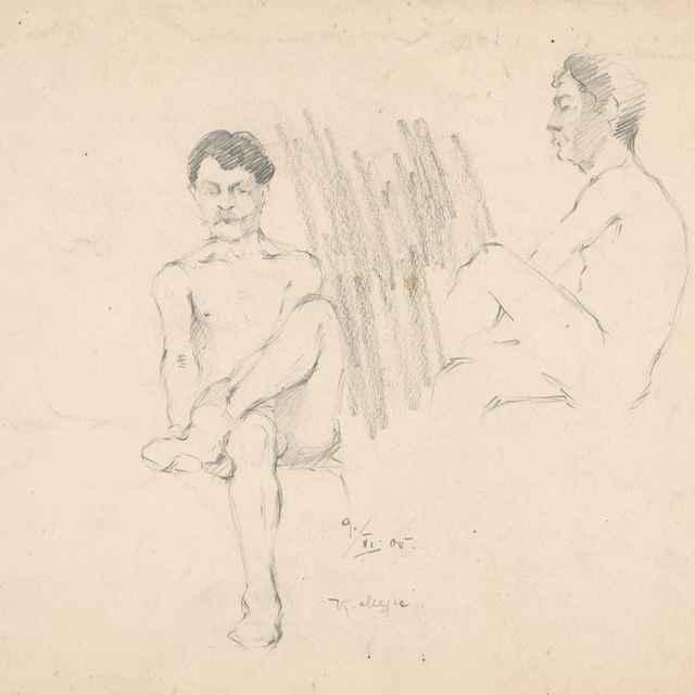 Sediace mužské akty - Žabota, Ivan