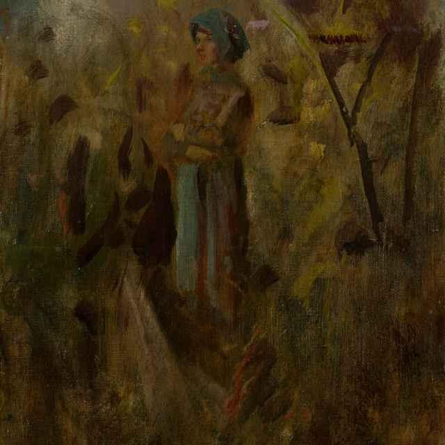 Dedinské dievča v poli. - Mednyánszky, Ladislav