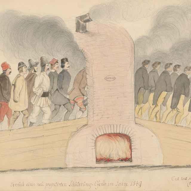 Pokus o návrh očistnej pece v roku 1849 - Stredoeurópsky maliar z 19. storočia