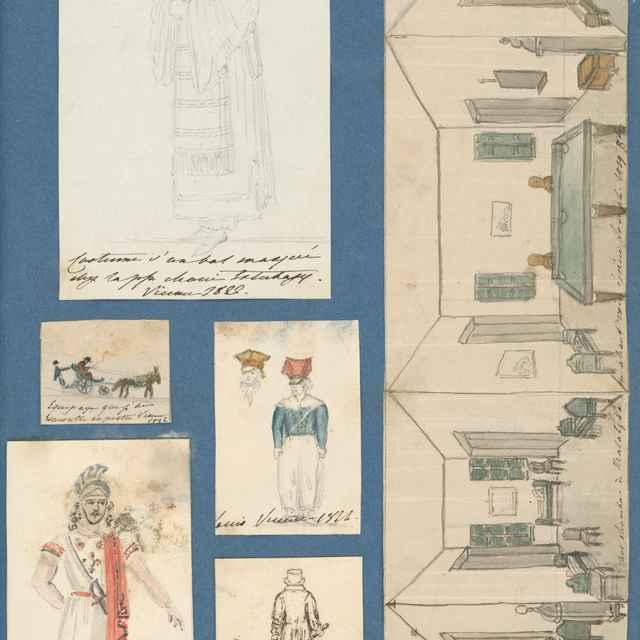 Album kresieb z rokov 1817 - 1870 - Stredoeurópsky maliar z 19. storočia