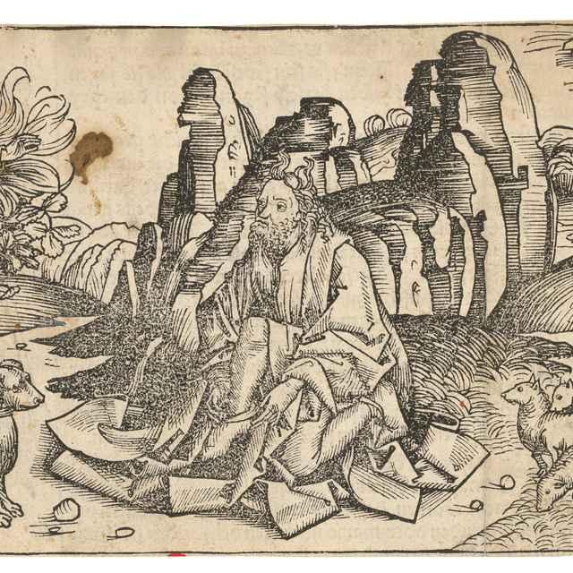 Boh sa zjavuje Mojžišovi na ohnivom kri - Wolgemut, Michael