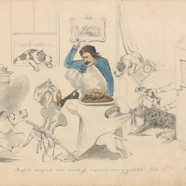 Album kresieb z 1847 - 1849 - Stredoeurópsky maliar z 19. storočia