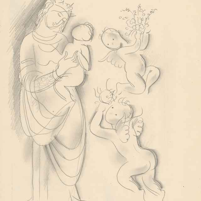 Madona s dieťaťom a anjelikmi - Galanda, Mikuláš