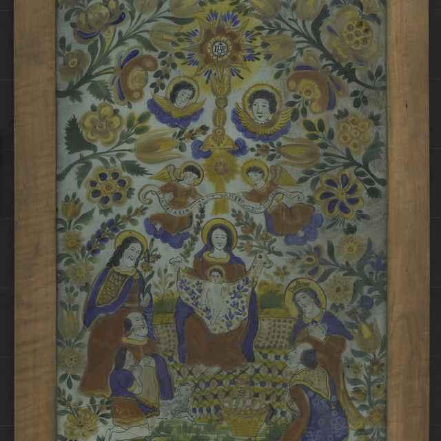 Zjavenie Pána,maľba na sklo