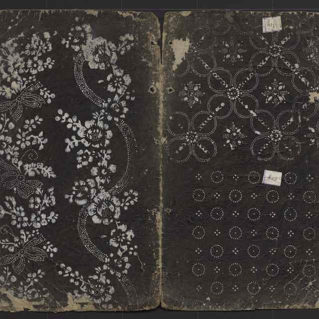 Vzorkovník modrotlačový - 14dvojhárkov,21listov,14fragmentov
