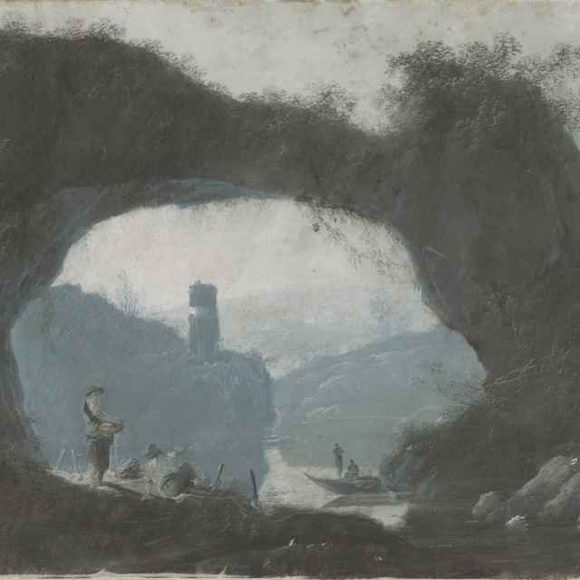 Kamenná brána v riečnej krajine - Pillement, Jean Baptiste