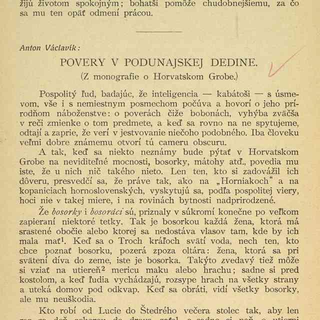 POVERY V PODUNAJSKEJ DEDINE. : - Václavík, Anton