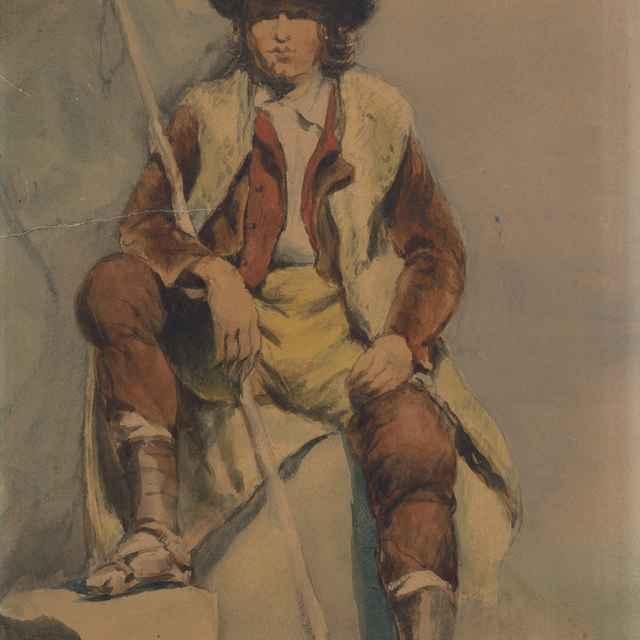 Štúdia sediaceho muža z Albánie - Klimkovič, Vojtech