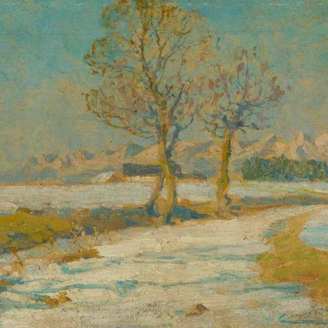 Zimná krajina pod Tatrami - Čordák, Ľudovít