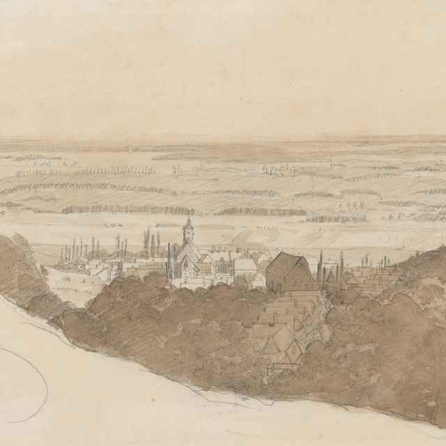 Pohľad na Jur pri Bratislave - Scheidlin, Friedrich Carl von