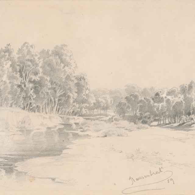 Stromy pri vode - Scheidlin, Friedrich Carl von