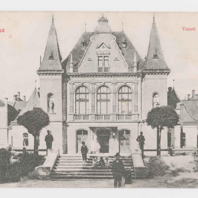 Pohľadnica Košice železn. Stanica 1908