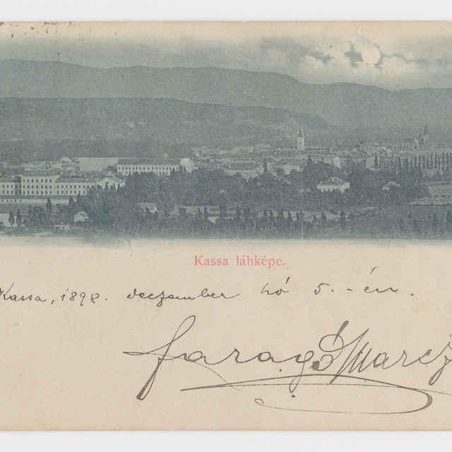 Pohľadnica Košice 1898