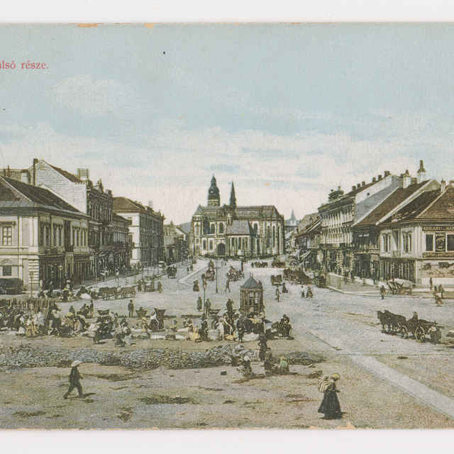Pohľadnica KE - dolná časť Hlavnej ul.