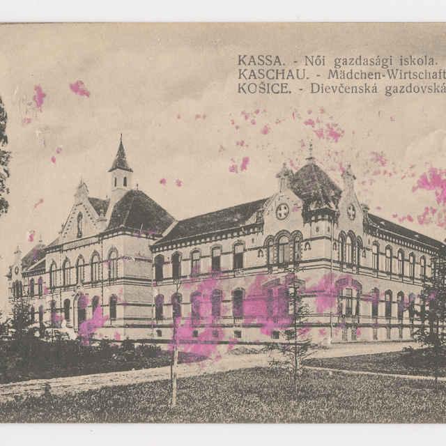 Pohľadnica KE - dievč. Škola