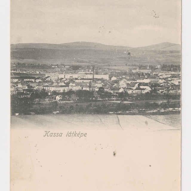 Pohľadnica KE - pohľad na Košice - Muzeálny objekt