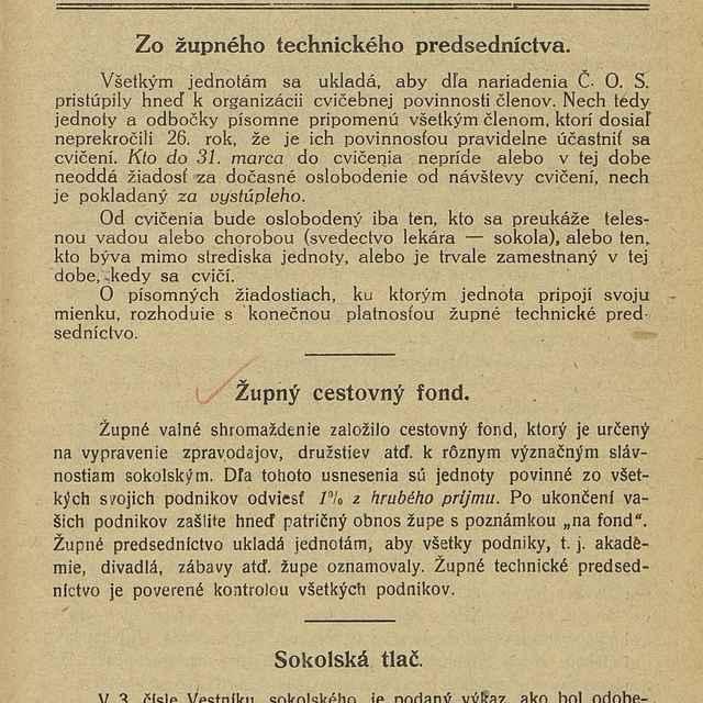 """Vestník Sokolskej župy Pohronskej """"Detvan"""""""