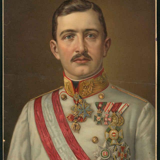 Kolorovaná tlač - Portrét rakúskeho cisára Karola I., začiatiok 20. storočia - neznámy (osobné meno)