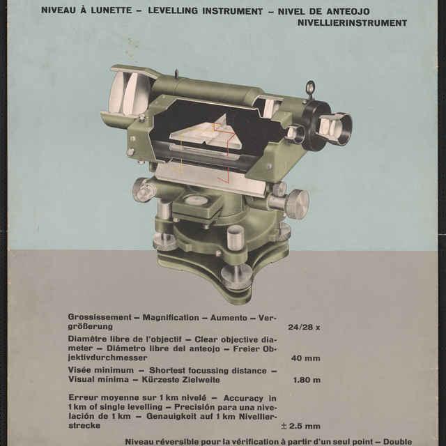 Prospekt nivelačného prístroja WILD N2