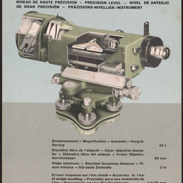 Prospektový obraz nivelačného prístroja WILD N3