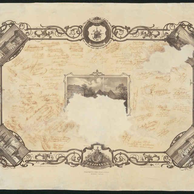 Edvard Oberth, Valeta banského akademika, litografia,1860 - Oberth, Eduard
