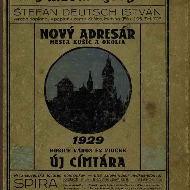 Nový adresár mesta Košíc a okolia 1929