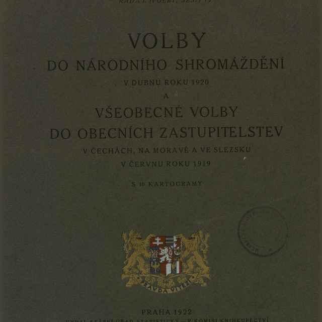 Volby do Národního shromáždění v dubnu roku 1920 a všeobecné volby do obecních zastupitelstev v Čechách, na Moravě a ve Slezsku v červnu roku 1919