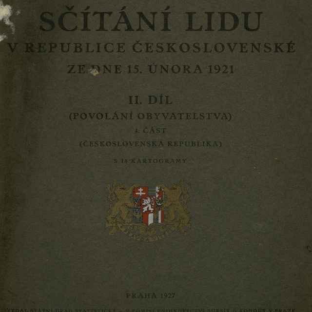 Sčítaní lidu v Republice československé ze dne 15. února 1921