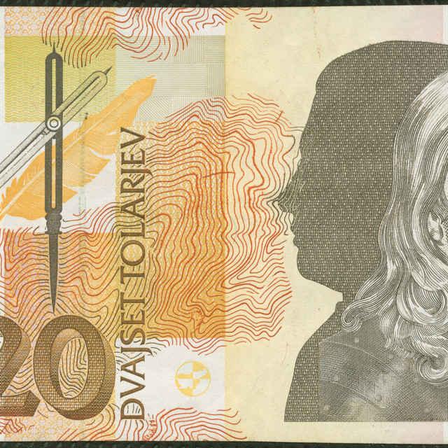 Bankovka 20 tolarjev (osobnosť prírodných vied)