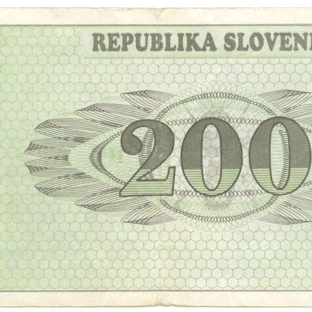 Bankovka 200 tolarjev (krajina, fauna)