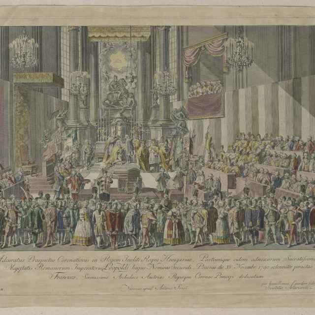 Korunovácia cisára Leopolda v Bratislave - Schütz, Carl