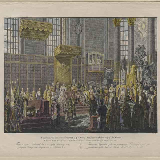 Korunovácia cisára Ferdinanda V. Bratislave v roku 1830 - Hoechle, Johann Nepomuk