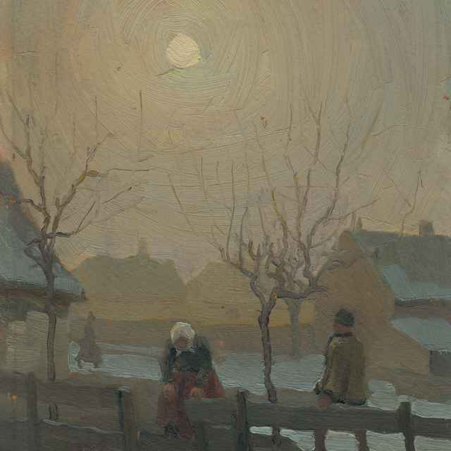 Zima na dedine - Mousson, Jozef Theodor