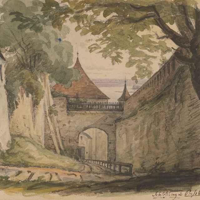 Pohľad na prístup k Žigmundovej bráne Bratislavského hradu