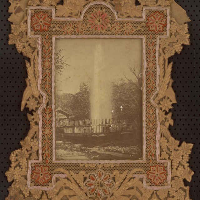Fotografia gejzíru v Herľanoch - Karol Divald st. - Muzeálny objekt