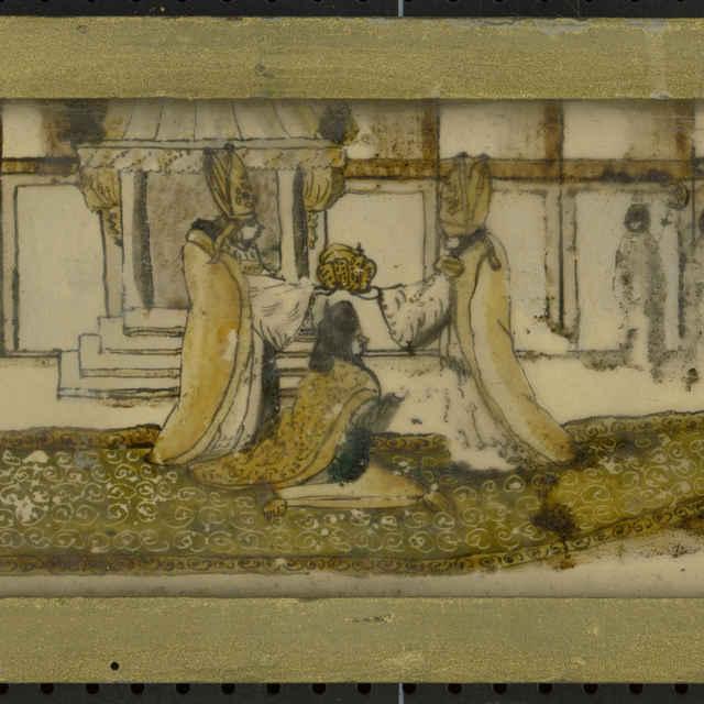 Maľba na skle-Korunovacia slávnosť - neznámy (osobné meno)