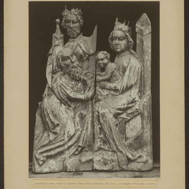 Fotografia gotického reliéfu z Lomničky - Bauer Siegbert
