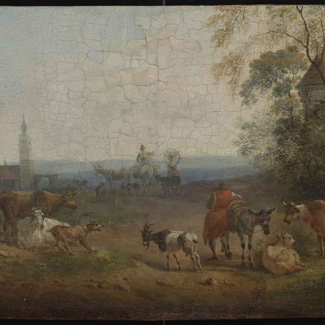 Krajina s dobytkom a pocestnými - Molitor, Peter von