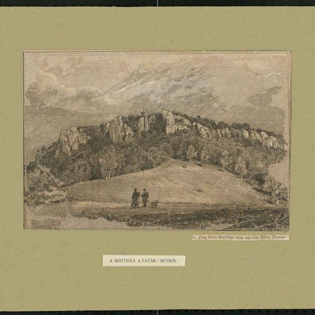 Tlač z perokresby, Sitno z Tatárskej lúky, autor: Tivadar Dörre, polovica 19. storočia - Dörre, Tivadar
