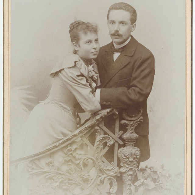Fotografia manželov Elsy Schickedanz a Rudolfa Tittes